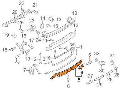 NEW AUDI A3 8V REAR BUMPER SPOILER VALANCE 8V5807434E 9B9