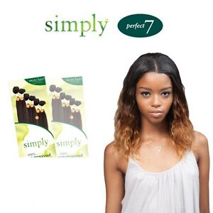 outre simply perfect 7 brazilian natural body 100 non processed human hair pack ebay