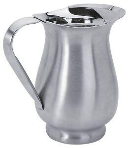 details sur carafe pichet en inox brosse 1 litre pot a eau solide et stable h 20 cm