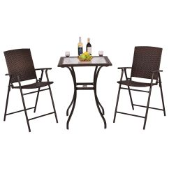 Patio Chairs For Cheap Adirondack Chair Pads Garden Bistro Set Table 2 Rattan Balcony