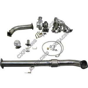 Turbo Intercooler kit + Manifold Downpipe For 240SX S13