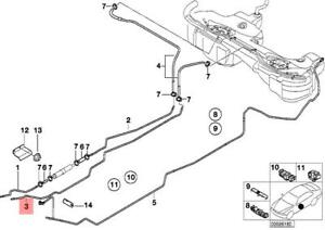 Genuine BMW E46 Cabrio Compact Fuel Feed Pipe Return Line