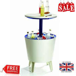 Keter Cool Bar Plastic Outdoor Ice Cooler Table Garden