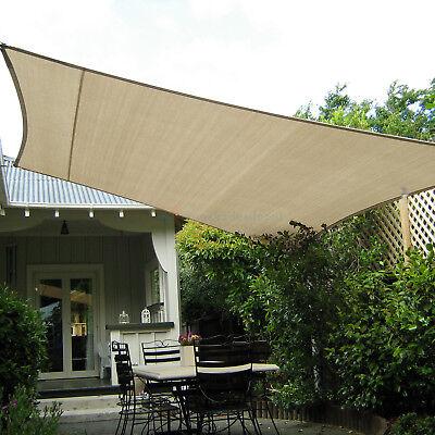 beige custom 13 24ft rectangle waterproof sun shade sail garden pool patio cover ebay
