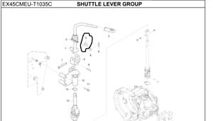 New Genuine OEM KIOTI T2185-65671 Shuttle Lever Spring for