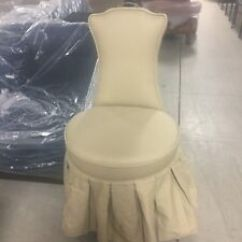 Bathroom Makeup Chair Polywood Lounge Chairs Frontgate Elena Vanity Rolling Stool Seat Image Is Loading