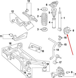 VOLKSWAGEN JETTA MK6 Rear Right Wheel Bearing 1T0598611C