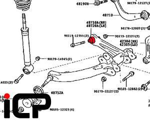 Rear Swing Arm Rear Bush Fits: Toyota Celica 1.8 VVTi