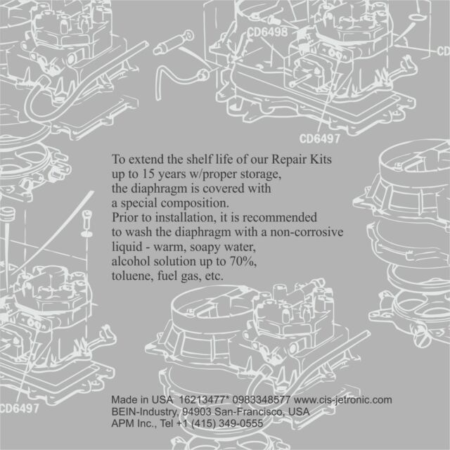 0438100102 Repair Kit for Bosch Fuel Distributor Mercedes