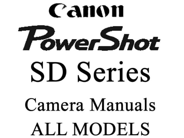 Canon PowerShot SD User Guide Instruction Manual (SD Grp 2