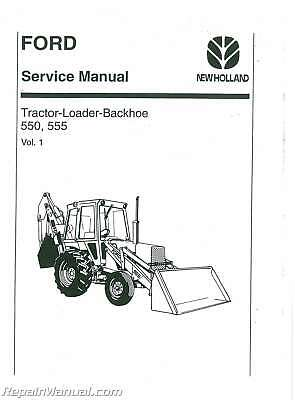 Ford 550 and 555 Tractor Service Manual : JS-FO-S-550-555