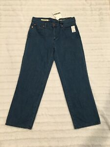 Gap 1969 Women's Original Wide Leg Crop Mid Rise Jeans Size 28R New With Tags   eBay