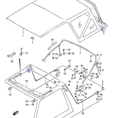 NEW Genuine Suzuki Vitara Soft Top Deck Canvas Roof Parts