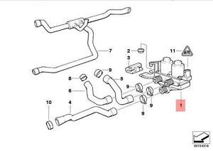 Genuine BMW E36 Z3 Cabrio Coupe Heater Control Valve