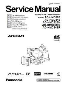 Panasonic AG-HMC80 HMC81 HMC82 HMC83 HMC84 Service Manual