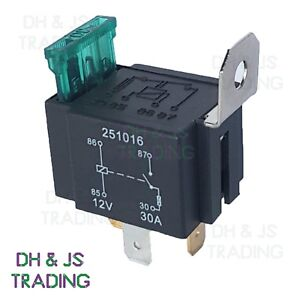 12v 30a relay 4 pin wiring diagram yamaha 90hp outboard automotive 30amp normally open contact fused image is loading