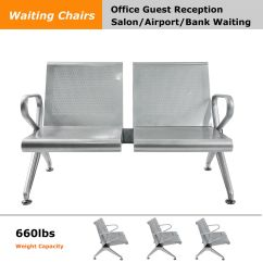Waiting Chairs Mexican Dining Table And Steel Office Hall Station Reception Area Airport Room Chair 2 Seat Bench Ebay