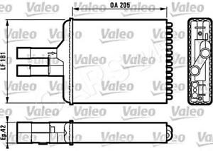 OPEL VAUXHALL Vectra B 1995-2003 Heater Core Exchanger