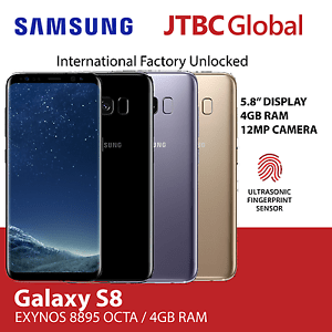 New Samsung Galaxy S8 G-950FD 4G LTE Dual Sim 5.8 Inch 64GB Factory Unlocked