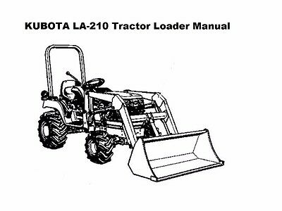KUBOTA LA 210 211 TRACTOR LOADER PARTS MANUALs 125pgs for
