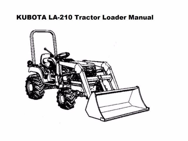 KUBOTA LA 210 211 TRACTOR LOADER PARTS MANUALs 125pgs for