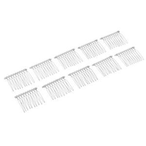 10Pcs 10 Teeth Comb DIY Metal Wire Hair Comb Clips Bridal
