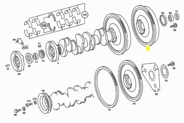 Mercedes Flywheel Manual Transmission New OEM OM615 OM616