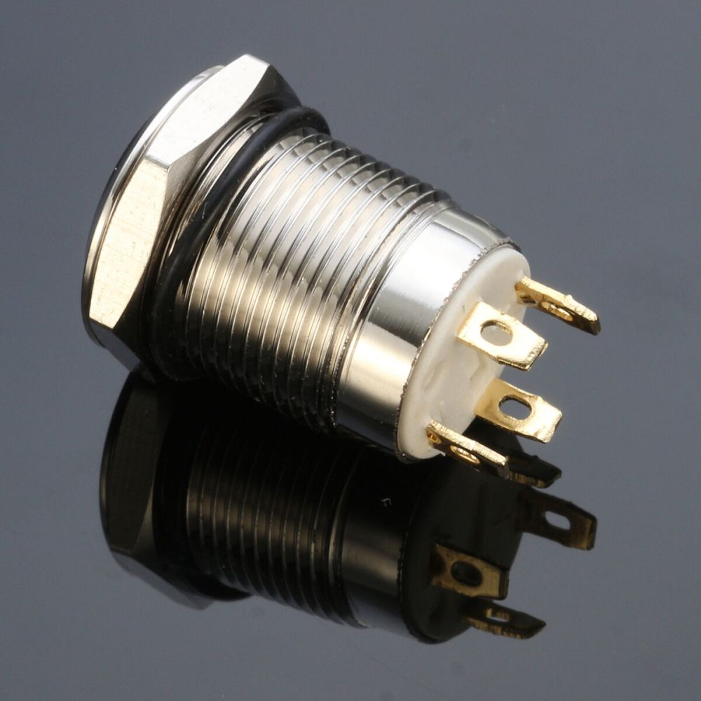 medium resolution of 12v chrome 4 pin led light 12mm metal push button momentary switch waterproof ma