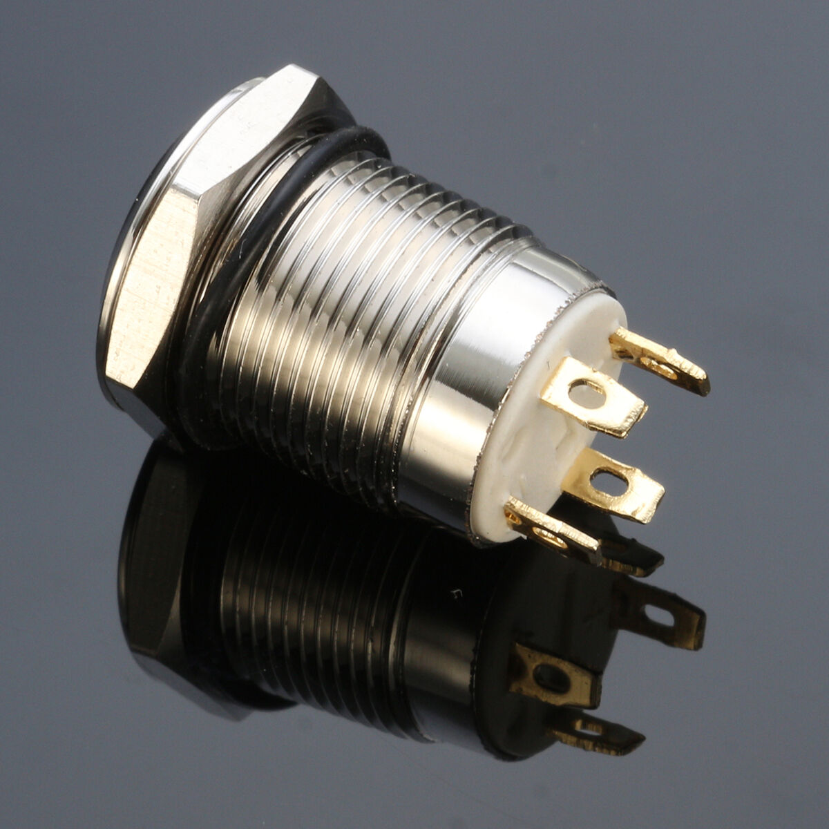 hight resolution of 12v chrome 4 pin led light 12mm metal push button momentary switch waterproof ma