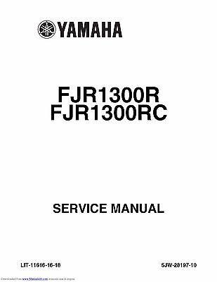 Yamaha service workshop manual 2003 FJR1300, FJR1300R