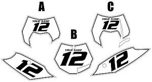 Fits KTM 350SX-F 2011-2012 Pre-Printed White Backgrounds