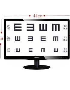Image is loading pc inch tft liquid crystal visual acuity also chart projector rh ebay