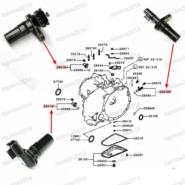 3X Transmission Vehicle Speed Sensors For Mitsubishi