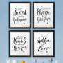 The John Funny Bathroom Wall Decor Signs Quotes Set Art
