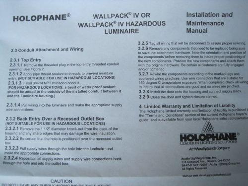 small resolution of holophane wallpack iv 70 watt 120v w4070hp12skb black wall light lamp outdoor for sale online ebay