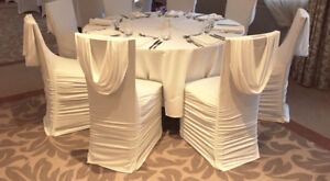ruched chair covers white wicker chairs uk spandex swag back cover for event decor image is loading