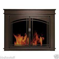 Pleasant Hearth Glass Fireplace Door Fenwick ORB Medium FN ...
