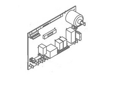 Norcold 637082 Refrigerator Power Supply Circuit Board