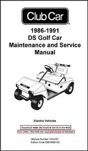 1986-1991 Club Car DS Electric Technical Workshop Service