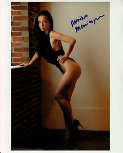 Image Is Loading Monika Marciczkiewicz Hand Signed Sexy In Heels Lingerie