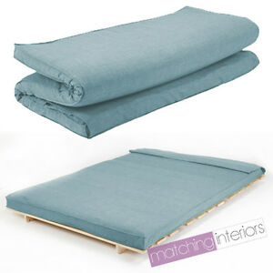 Image Is Loading Duck Egg Linen Fabric Double Folding Sleeping Bed