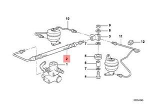 Genuine BMW E38 Rear Self Levelling Suspension Hose Line