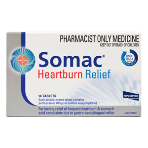 * SOMAC HEARTBURN RELIEF 14 TABLETS ENTERIC COATED ...
