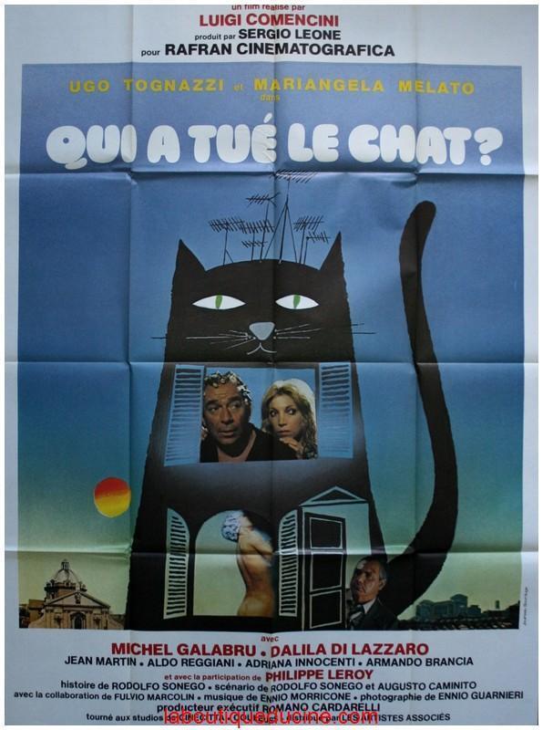 Qui A Tué Le Chat ? : Affiche, Cinéma, Movie, Poster, Luigi, Comencini, Galabru