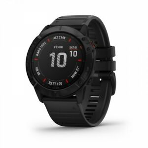 Garmin fenix 6X Pro GPS Multisport Watch - Black with Black Band 010-02157-00