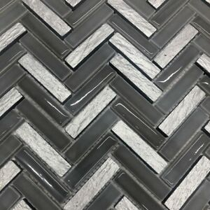 details about grey silver herringbone mosaic tiles sheet for walls floors bathrooms kitchens