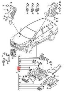 Genuine VW AUDI Touareg Q3 7P5 7P6 8UG fuse overload