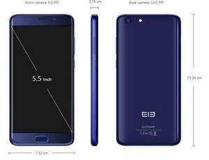 Elephone S7 4G Phablet - HELIO X25 VERSION BLUE 64GB Fingerprint 13MP DE Versio