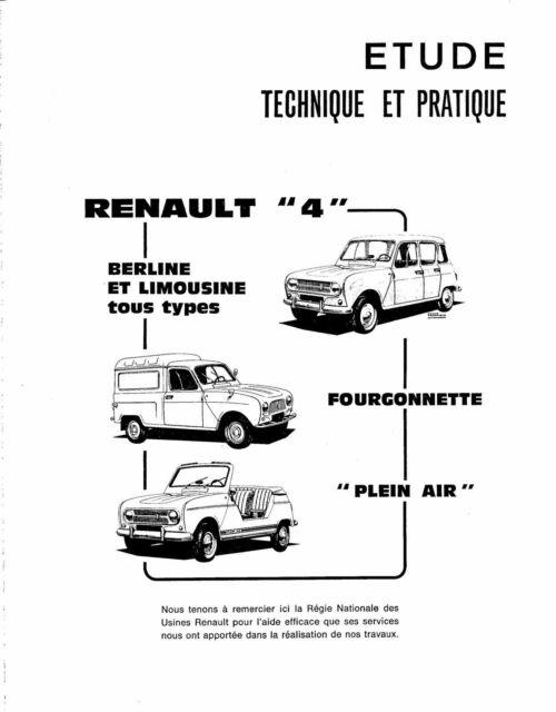 RENAULT 4 PLEIN AIR FOURGONNETTE MANUAL DE REPARACION