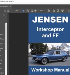 jensen interceptor ff mk 2 3 1969 1976 workshop manual wiring diagrams ebay [ 1106 x 725 Pixel ]
